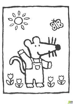 Mimi au soleil : coloriage