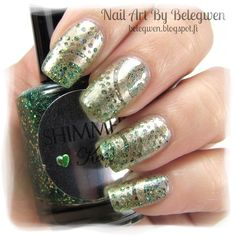 Nail Art by Belegwen: Shimmer Polish: Kelly