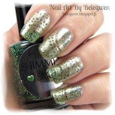 Nail Art by Belegwen: Shimmer Polish: Kelly