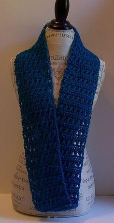 free crochet infinity scarf crossed double crochet stitch pattern