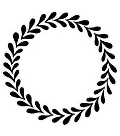 Magenta Cling Stamps - Wreath