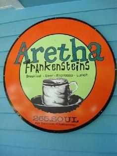 """Aretha Frankensteins, Chattanooga: """"breakfast, beer, espresso, lunch"""""""