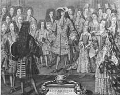 Louis XIV and the French Royal Family in 1698