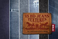 15 Free HD Jeans Textures / 15 Texturas HD Gratis de Tejido Vaquero