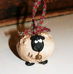 Gourd lamb ornament by gourdsrus on Etsy