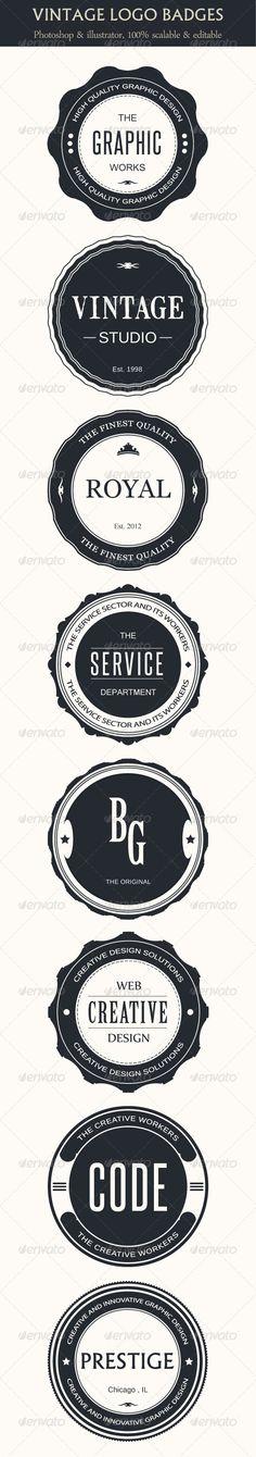 Vintage Logo Badges  - GraphicRiver Item for Sale