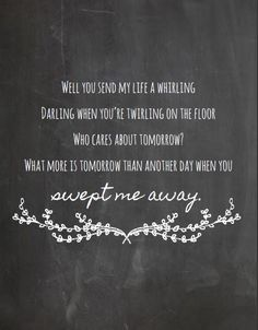 Avett Brothers- Swept Away Lyrics Print- Chalkboard Style Art Print, Lyrics Poster by CraftingInPearls on Etsy https://www.etsy.com/listing/235563405/avett-brothers-swept-away-lyrics-print