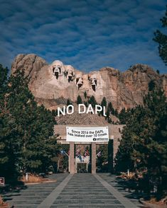 The presidents on Mount Rushmore have oil pouring out of their eyes and mouth as a protest against the Dakota Access Pipeline Dakota Access, Guerrilla, Mount Rushmore, Presidents, Oil, Mountains, Eyes, Nature, Movie Posters