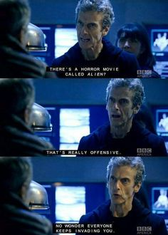 In which the 12th Doctor is offended by the Alien horror movie franchise.