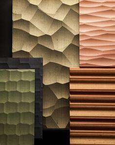 KINUMOTE : silk wallpaper on wavy panel Silk Wallpaper, Craftsman, Japanese, Traditional, Contemporary, Detail, Interior, Inspiration, Design