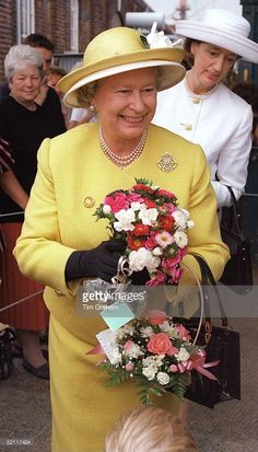 The Queen In Portsmouth To Board The Royal Yacht Britannia For Her Traditional Cruise Around The Western Isles Of Scotland With Her Is Lady-in-waiting, Lady Susan Hussey.