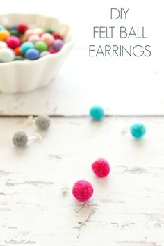 DIY Felt Ball Earrin