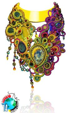 Beautiful necklaces from BOTB 2014 (part I) Click on link to see more photos - http://beadsmagic.com/?p=6982