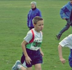 Liam running cross country as a kid