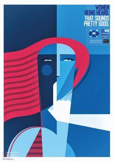 Fabio P Corazza  - Pôsteres criados por artistas para Dia Internacional da Mulher - Iniciativa: App Woman Interrupted