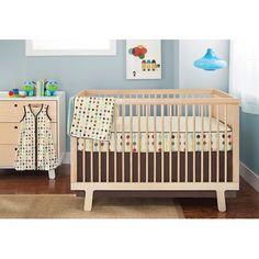Skip Hop Mod Dot Complete Bumper Free 4 Pieces Crib Bedding Set