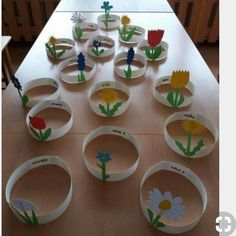 Flowers Art Craft Preschool New Ideas Spring Crafts For Kids, Summer Crafts, Projects For Kids, Art For Kids, Diy And Crafts, Kids Crafts, Arts And Crafts, Easter Crafts, Preschool Activities