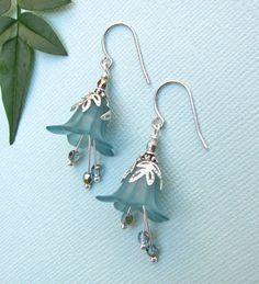 Blue Bell Flower Earrings by LunaTerra on Etsy, $14.00