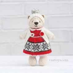 Some not show to you before  Sold I try to make vintage teddy in Christmas style. #vastoys