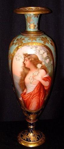 Royal Vienna Portrait Vase