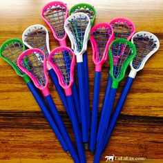 Our authentic lacrosse stick pens are not only fun to write with but great fun to play with too! Great gift idea for any lacrosse player! LuLaLax.com