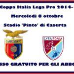 Coppa Italia Casertana-Lupa Roma, ingresso libero a tutti gli abbonati. Partita alle 20,30 dell'8 ottobre 2014
