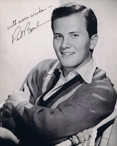 Pat Boone.  I was in his fan club and got an autographed picture ...