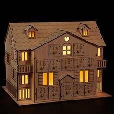 John Lewis Led Wooden Advent House Online At Johnlewis Advent House Advent Calendar House Wooden Advent Calendar