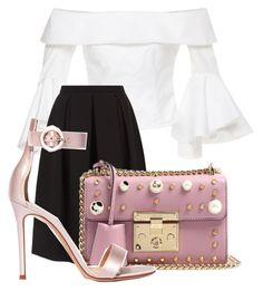 """Untitled #1121"" by ellamidge ❤ liked on Polyvore featuring Maria Lucia Hohan, Monsoon, Gucci and Gianvito Rossi"