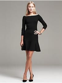 Seamed Ponte Fit-and-Flare Dress   Banana Republic   Eastwood Towne Center - Lansing Michigan