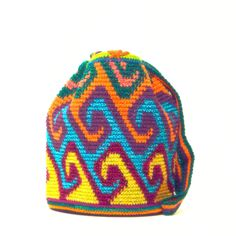 Mini Handwoven Mochila Bag - made by women from the Wayuu Tribe in Colombia