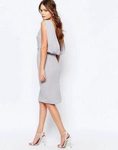 Elise Ryan | Elise Ryan Embellished Pencil Dress With Drape Back