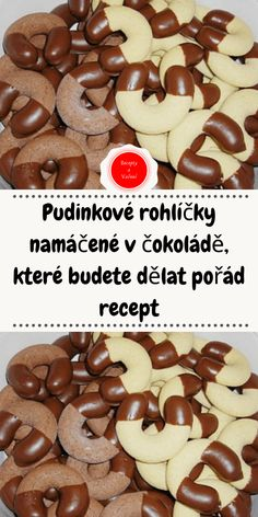 Pudinkové rohlíčky namáčené v čokoládě, které budete dělat pořád recept Christmas Sweets, Christmas Cookies, Sweet Cooking, Czech Recipes, Biscuit Recipe, Pavlova, How Sweet Eats, Sweet Recipes, Food Porn