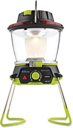 Hang It, stand It, store It—the Goal Zero Lighthouse 400 lantern lets you enjoy bright, directional light anytime, anywhere. You can also use it to give your phone or tablet a boost. Available at REI, 100% Satisfaction Guaranteed.