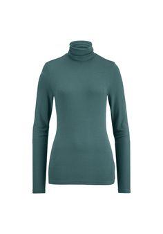 Damen Rollkragen-Shirt aus Modal mit Schurwolle - hessnatur Deutschland Turtle Neck, Shirts, Sweaters, Fashion, Reach In Closet, Fashion Women, Long Sleeve, Germany, Woman