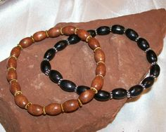 Stretch Wood Bracelet His And Or Hers by rykasbeads on Etsy, $5.00