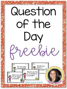Question of the day with 185 yes no questions and language building prompts. Use for journal writing prompts in PreK, kindergarten, and first grade. Kindergarten Journals, Kindergarten Writing, Kindergarten Activities, Writing Activities, Listening Activities, Preschool Language Activities, Kindergarten Common Core, Preschool Attendance Ideas, Literacy