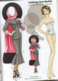 Barbie paper dolls