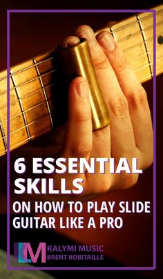 Learning how to play the slide guitar can be one of the most expressive ways to play the guitar, be free of your tempered fret tuning, and seamlessly glide between notes. To make your guitar sing like an angel or stutter like a motorbike is possible with this tiny circular tube around your finger.But before you slither the slide up and down the neck, take note of these essential tips and exercises to start or improve your slide guitar playing. #KalymiMusic #SlideGuitar #MusicInspiration Guitar Books, Guitar Sheet Music, Box Guitar, Guitar Tips, Music Books, Guitar Songs For Beginners, Slide Guitar, Find Music, Guitar Tutorial