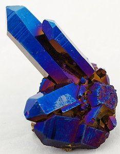 Azurite After Quartz            From Crystals Rocks and Gems       via Mark Davis
