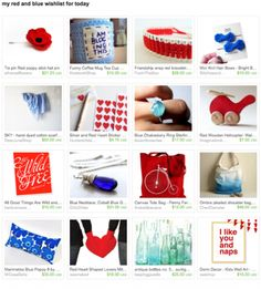 my red and blue wishlist for today