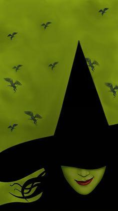 Witchy Wallpaper, Halloween Wallpaper Iphone, Halloween Backgrounds, Music Wallpaper, Wallpaper Backgrounds, Iphone Backgrounds, Wicked Tattoos, Wicked Musical Tattoo, Cellphone Wallpaper