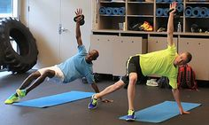 The core strengthening exercises of Mo Farah and Galen Rupp - see video on the page.