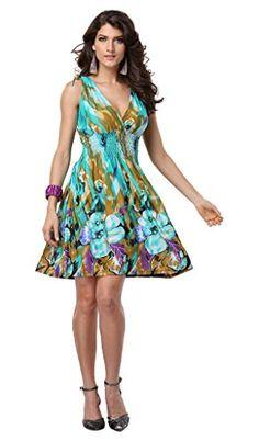 Jinhuanshow Women's Spring Summer Bold Printed Dresses Flower14 (Medium, Color3) Jinhuanshow® http://www.amazon.com/dp/B00XT10E80/ref=cm_sw_r_pi_dp_jz1awb086JVN1