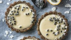 These light & refreshing paleo lemon passionfruit tarts are grain-free, dairy-free & no-bake, making them the most perfect treat on a hot spring/summer day. Passionfruit Tart, Mini Tart Shells, Healthy Desserts, Paleo Fruit, Healthy Recipes, Custard Tart, Dairy Free, Gluten Free, Grain Free