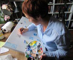 Dag 18 van project #winterlight 5 x 5 cm. acrylverf op doek.
