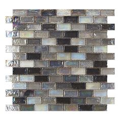 Gemini Mosaics Hammered Silver - 20x42x8mm (Sheet Size 300x300mm) | Gemini Tiles