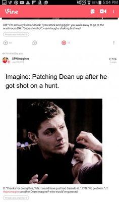Supernatural Fanfiction, Supernatural Imagines, Supernatural Destiel, Supernatural Cartoon, Supernatural Outfits, Jensen Ackles, Look Back At Me, Getting Him Back, Get Shot