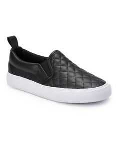 Loving this Black Quilted Sneaker on #zulily! #zulilyfinds