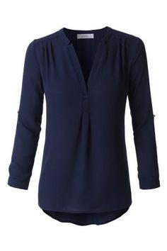 This chic classic blouse goes with everything! Wear with jeans or dress pants…